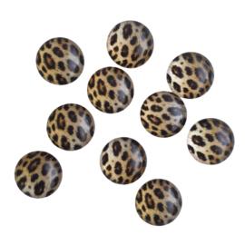 Cabochon luipaardprint