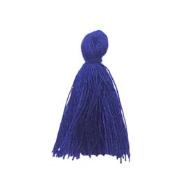 Kwastje koningsblauw - ca. 27mm