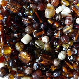 Glasmix bruin/caramel