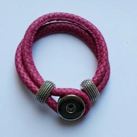 Imitatieleren armband roze - ca. 19cm