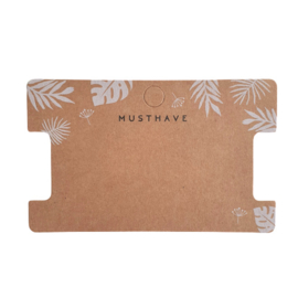 Sieraden kaartje 'musthave' bladpatroon