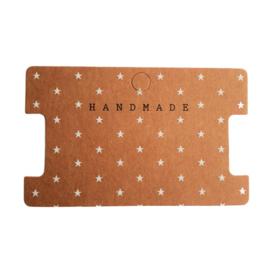 Sieraden kaartje 'handmade'