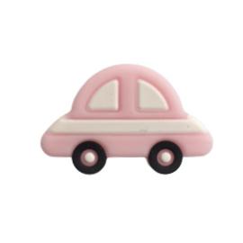 Siliconen kraal auto pastelroze