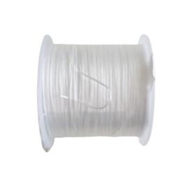 Plat elastisch koord mat wit
