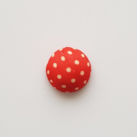 Stoffen cabochon dots rood - ca. 15mm