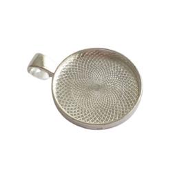 Setting / hanger zilver voor 20mm cabochon