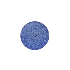Cabochon mandala blauw