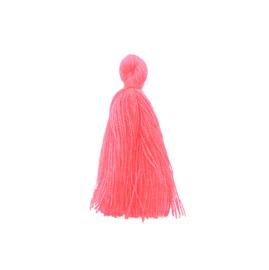 Kwastje neon roze - ca. 27mm