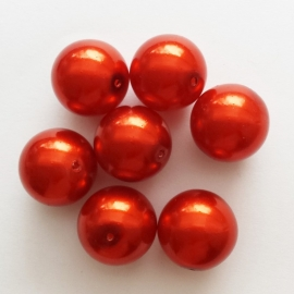 Parel rood - 14mm