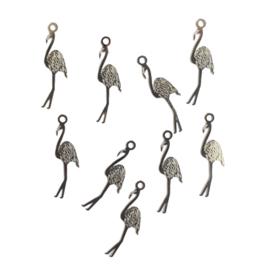 Hangertje flamingo zilver