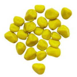Steentje geel - ca. 9x14mm
