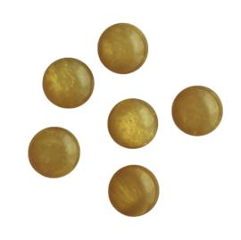 Polaris cabochon mosso shiny mustard - 12mm