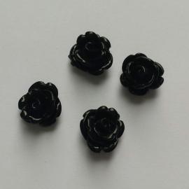 Roosje zwart - ca. 11mm