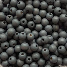 Houten kraaltje grijs - ca. 6mm