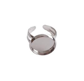 Kinder ring voor cabochon 12mm