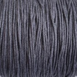 Waxdraad donkergrijs - 1mm