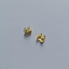 Kalotje goud - voor 2mm bolletjesketting