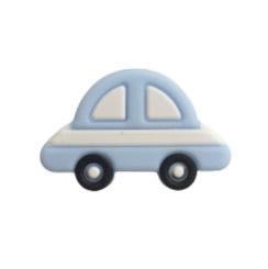 Siliconen kraal auto pastelblauw