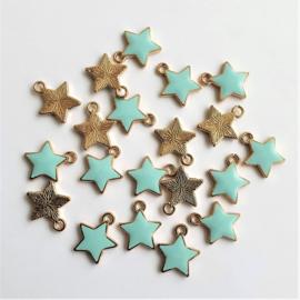 Bedel ster goud/lichtblauw
