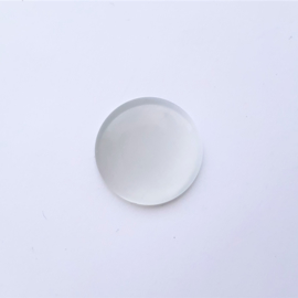 Glascabochon cateye grijswit