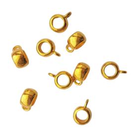 Kraal met oogje antiek-goud - binnenmaat ca. 3,5mm