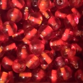 Kraaltje transparant-rood - ca. 7mm