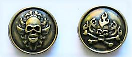 Drukknoop schedel brons