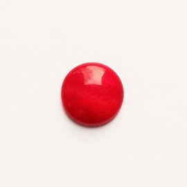 Polaris cabochon mosso shiny raspberry red - 20mm
