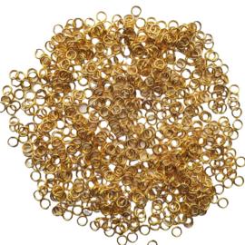 Buigringetjes goud 10 stuks - 4mm