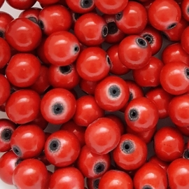 Miracle bead red - 8mm