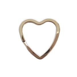 Metalen sleutelring hart
