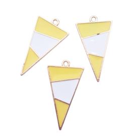 Bedel driehoek geel/wit/goud