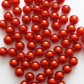 Parel rood - 8mm