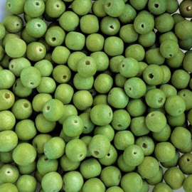Houten kraaltje pistache groen - ca. 6mm