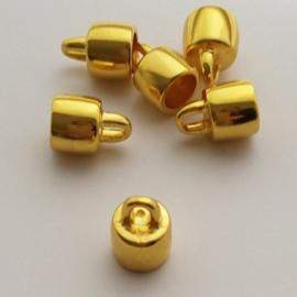 Grote metalen eindkap goudkleur - ca. 11mm