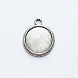 Setting / hanger antiek-zilver voor cabochon van 20mm