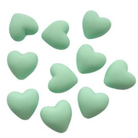 Siliconen hart mint