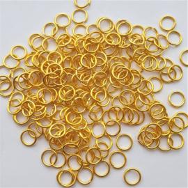 Buigringetjes soepel goud 10 stuks - 6mm