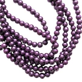 Glasparel amethist paars - ca. 6mm