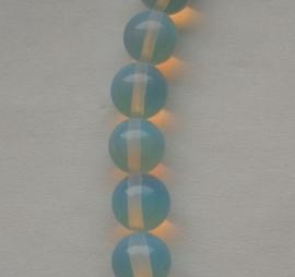 KWI20 Ronde glaskraal piezo melkwit 10mm