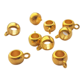 Kraal met oogje goud - binnenmaat ca. 5mm