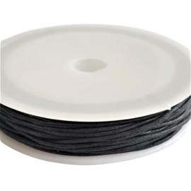 Waxdraad zwart 10 meter - 1mm