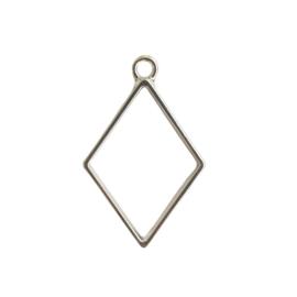 Hanger ruit antiek-zilver