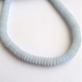 Glaskraal discus blauwwit - ca. 5mm
