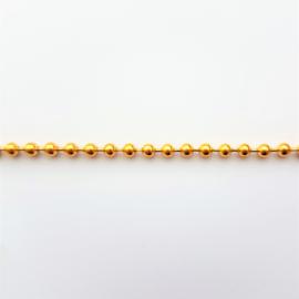 Bolletjesketting goud - 3,2mm