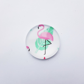 Glascabochon flamingo