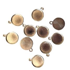 Hanger / bedel  antiek-zilver voor cabochon van 12mm