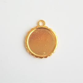 Setting / hanger goud voor cabochon van 16mm