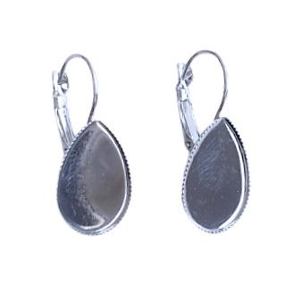 Oorhangers druppel antiek-zilver