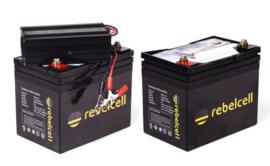 Rebelcell HS Ultimate XL Duo Pakket (2x 12V-50Ah Accu,s en 16.8V-8Ah Lader